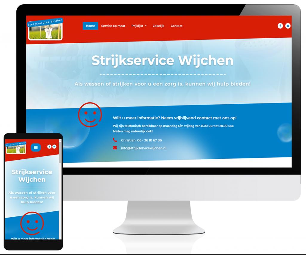 Website Strijkservice Wijchen